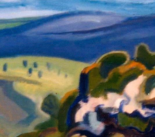 Detail of Megalong Valley painting