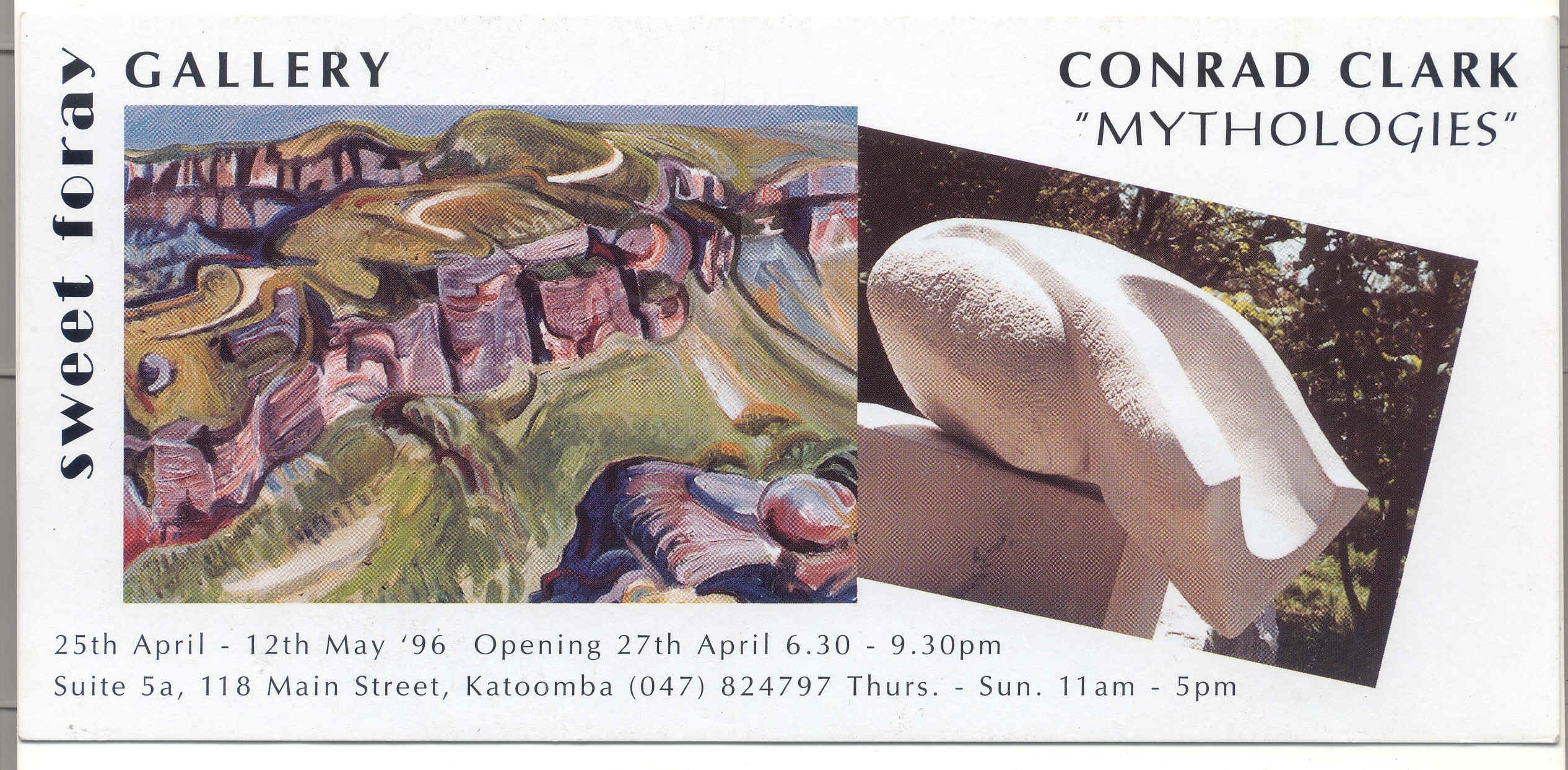 Mythologies Exhibition card