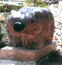 wombat sculpture